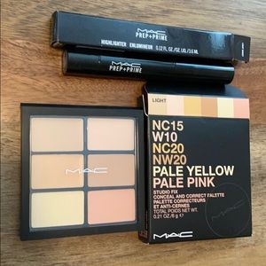 NIB MAC Prep+Prime Highlighter/Studio Fix Palette